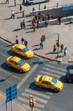 Vue courbe des taxis turcs Photo libre de droits