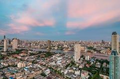 Vue crépusculaire Bangkok Photographie stock libre de droits