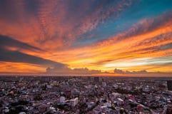 Vue crépusculaire Bangkok Image libre de droits