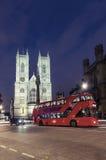 Vue crépusculaire de cathédrale d'Abbaye de Westminster, Londres Images stock