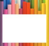 Vue. crayons colorés Images stock