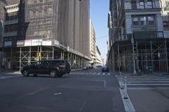 Vue Crosstown sur Fifth Avenue à New York image libre de droits