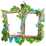 Vue décorée posée de cru Image libre de droits