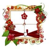 Vue décorée posée de cru Photo stock