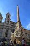 Vue détaillée de Piazza Navona Image stock