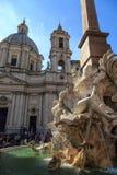 Vue détaillée de Piazza Navona Image libre de droits