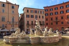 Vue détaillée de Piazza Navona Photos libres de droits