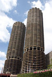 Vue d'â de Chicago de bateau de rivière Photos libres de droits