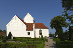 Vue d'église de Gerlev Photo libre de droits