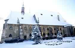 Vue d'église médiévale Image stock