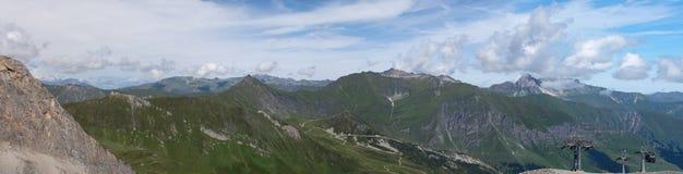 Vue d'été à partir de dessus de Hintertux Photo libre de droits