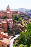 Vue d'été d'Albarracin Images libres de droits