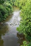 Vue d'été de la rivière de Roanoke images libres de droits