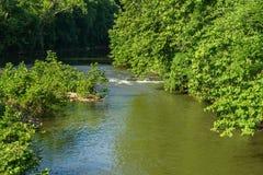 Vue d'été de la rivière de Roanoke image libre de droits
