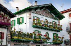 Vue d'été de la ville Basque Images libres de droits