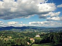 Vue d'été de montagnes Photo stock