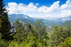 Vue d'été des montagnes de Pyrénées Image libre de droits