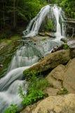 Vue d'été d'hurler la cascade courue photos libres de droits