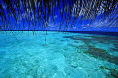 Vue d'étape d'atterrissage Maldives Image libre de droits