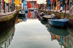 Vue d'île de Burano Photo stock