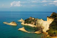 Vue d'île de Kerkira Images stock