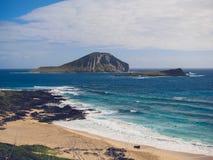 Vue d'île de lapin Photographie stock