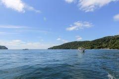 Vue d'île de Manukan, Sabah, Malaisie Image stock