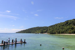 Vue d'île de Manukan, Sabah, Malaisie Photo stock