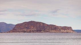 Vue d'île de Monemvasia en Grèce Images stock