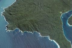 Vue d'île tropicale d'avion Photos libres de droits