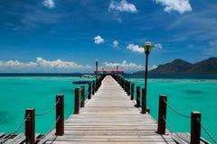 Vue d'île tropicale de paradis Images libres de droits