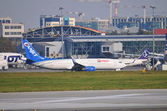 Vue d'aéroport d'Okecie à Varsovie Photos stock