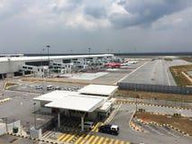 Vue d'aéroport de KLIA 2 en Kuala Lumpur, Malaisie Photographie stock