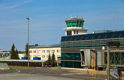 Vue d'aéroport de Riga image stock