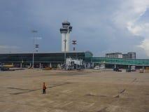 Vue d'aéroport de Tan Son Nhat dans Saigon, Vietnam Image stock