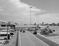 Vue d'aéroport de Tan Son Nhat dans Saigon, Vietnam Images stock
