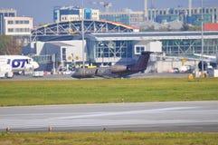 Vue d'aéroport de Varsovie Chopin Photographie stock