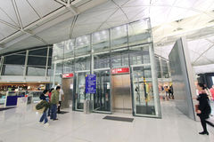 Vue d'aéroport international de Hong Kong Photo stock