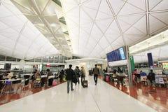 Vue d'aéroport international de Hong Kong Photo libre de droits