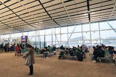 Vue d'aéroport international de Hong Kong Images stock