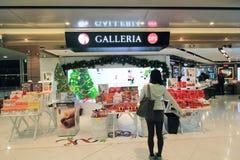 Vue d'aéroport international de Hong Kong Photographie stock libre de droits