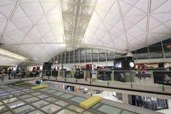 Vue d'aéroport international de Hong Kong Photos stock