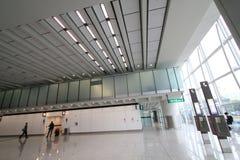 Vue d'aéroport international de Hong Kong Images libres de droits