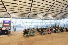 Vue d'aéroport international de Hong Kong Photographie stock