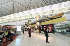Vue d'aéroport international en Hong Kong Image stock