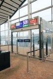 Vue d'aéroport international en Hong Kong Images libres de droits