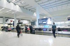 Vue d'aéroport international en Hong Kong Photo stock