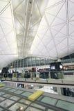 Vue d'aéroport international en Hong Kong Image libre de droits