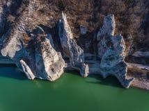 Vue d'Aeriall de phénomène de roche les roches merveilleuses en Bulgarie photo libre de droits