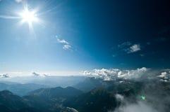 Vue d'Aiguile du Midi Photo stock